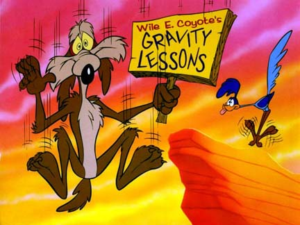 wile e coyote gravity1 Mr. Sponge Blob