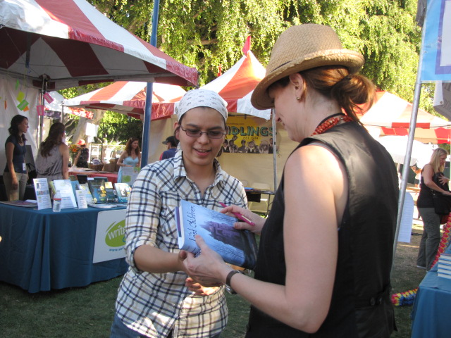 carolyn signing West Hollywood Bookfair 2010
