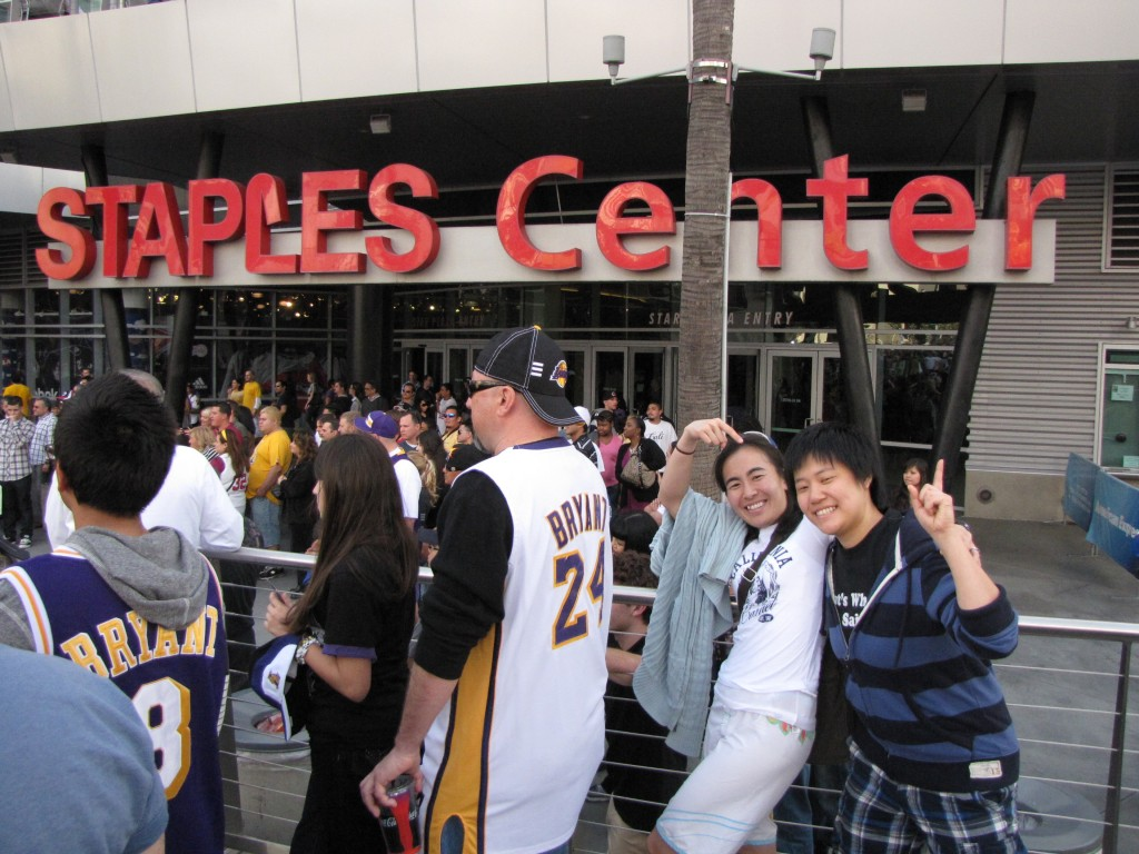 outside staples3 1024x768 One Awesome Sunday – Urth Caffe, Lakers vs Clippers, San Antonio Winery