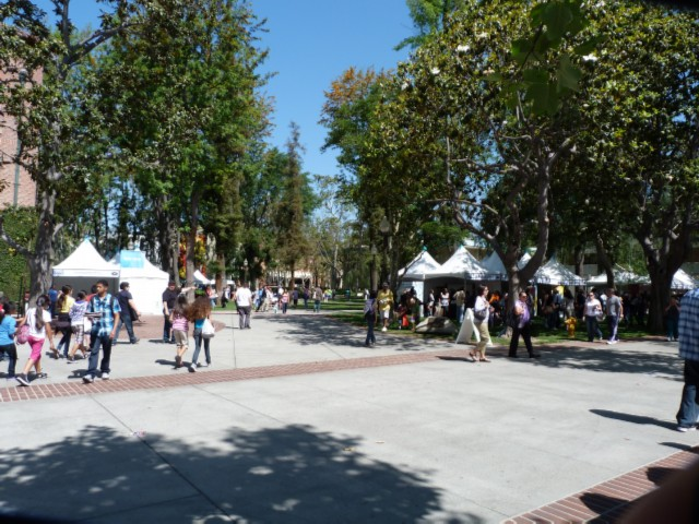 booths LA Times Festival of Books at USC