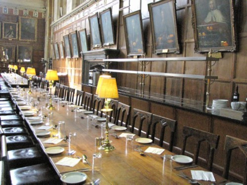 hogwarts dining hall table modified England Day 2 Part 3: Oxford and the End of the First Tour