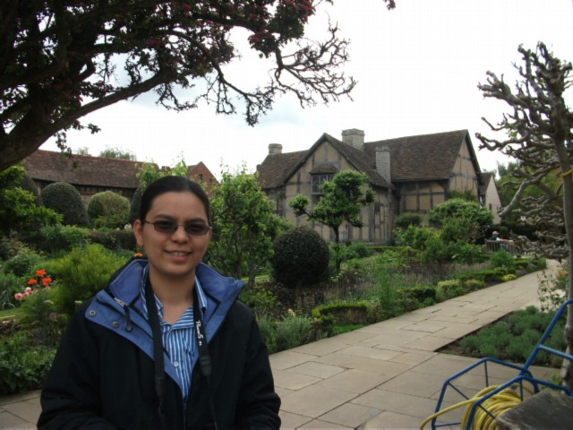 in front of shakspeare house England Day 2 Part 2: Stratford Upon Avon and Lunch in the Cotswolds