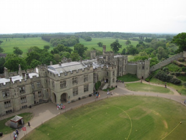 the view from the tower England Day 2 Part 1: Warwick Castle