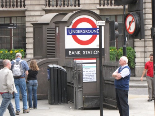 bank tube station England Day 4 Part 2: London Walks Harry Potter Tour
