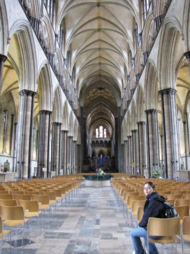cathedral inside England Day 7 Part 2: Conquering my Fears at Salisbury Cathedral
