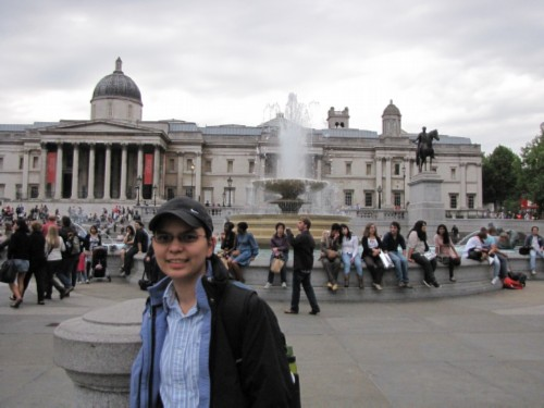 in trafalgar square England Day 3 Part 4: Greenwich, London and the River Thames Cruise