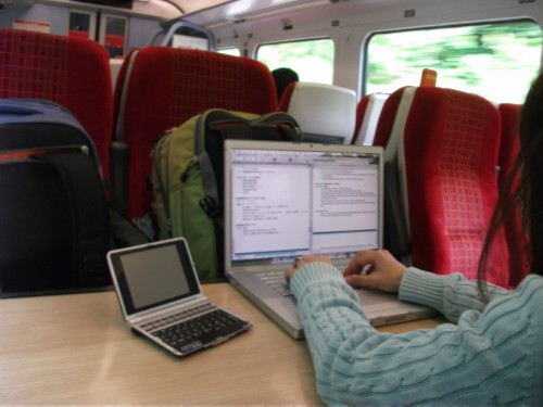 maiko working on train England Day 6 Part 1: First Day in Salisbury