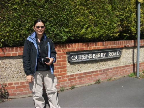 me at queensberry road England Day 6 Part 1: First Day in Salisbury
