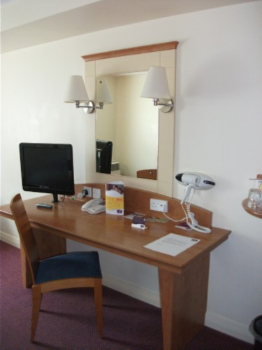 premier inn desk England Day 9: Wimbledon