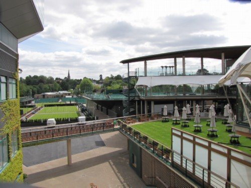 view from gangway England Day 9: Wimbledon