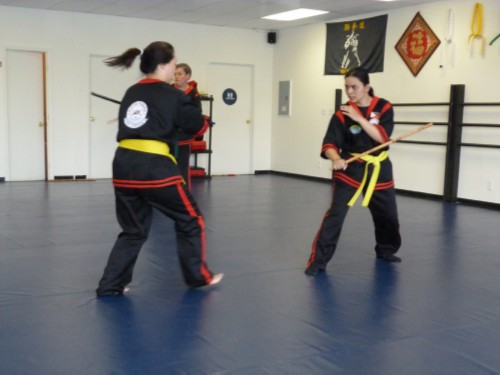 estokada with patricia Orange Belt Test