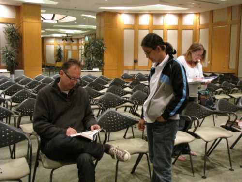 signing with jim Authors Faire at the Cerritos Library