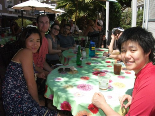 group lunch picture Celebrating a Birthday: Catalina Island with Friends