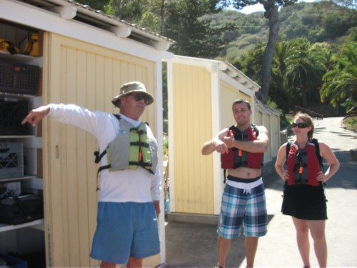 kayak guide Celebrating a Birthday: Catalina Island with Friends