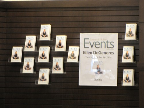 ellen degeneres event wall Seriously... Im Kidding: Ellen Degeneres Book Signing at Barnes & Noble