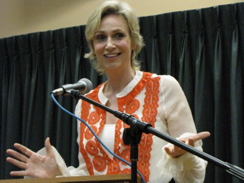 jane lynch playing sue Jane Lynch Signs Happy Accidents at Vroman's