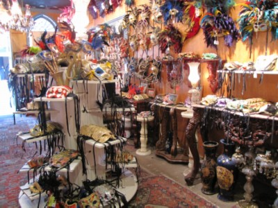 shop of masks New Orleans, Louisiana Part 1   French Quarter Adventures & 3 Beignets in One Day!