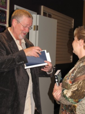 Orson Scott Card signing before talk Orson Scott Card's Book Signing