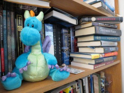 dragon and books Wednesday Writer's Workspace