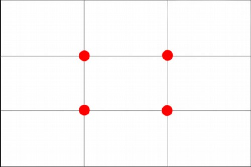 Rule of Thirds grid with dots modified Rule of Thirds