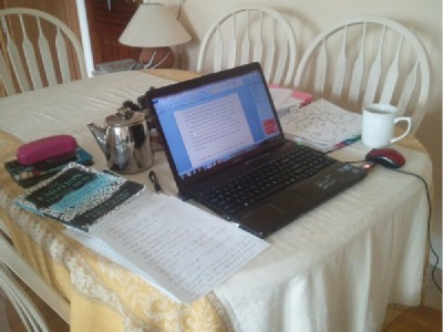 Desk1 modified Wednesday Writer's Workspace Welcomes Ann Ormond Fennell