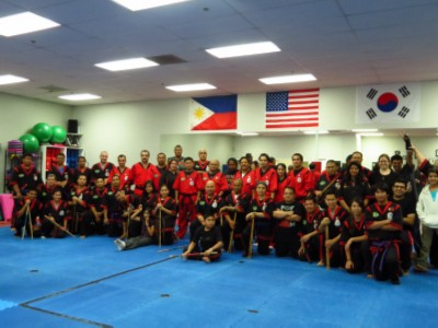 belt test group picture Doce Pares Martial Art Belt Test & Training Seminar