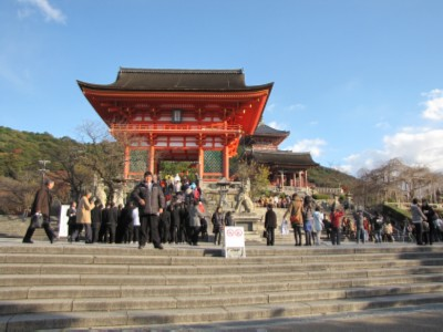 crowded temple Japan: Kiyomizudera Temple