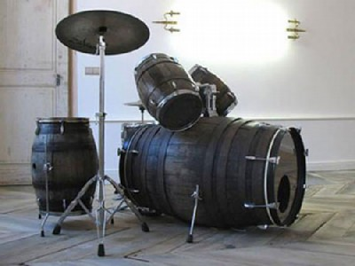1 - drums made out of barrels