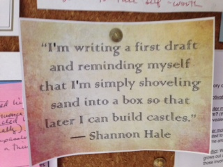 Shannon Hale quote Wednesday Writer's Workspace Welcomes Becca Puglisi