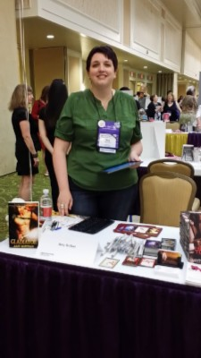 amy signing Wednesday Writer's Workspace Welcomes Amy Ruttan